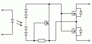 Figure 2: Schematic of a PhotoMOS Relay