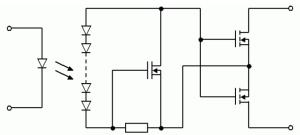 Figure 1: PhotoMOS Equivalent Circuit