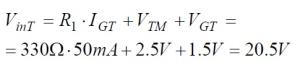 Phototriac Equation 2