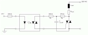 Figure 2: Triac Driving Circuit with RC Snubber Network