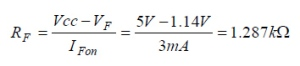 PhotoMOS Rf Calculation