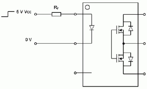 Figure 1: Simple PhotoMOS Driving Circuit