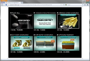 Screenshot of Connector Video Clips
